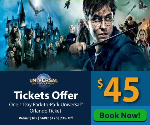 UNIVERSAL PTP Ticket $45 - Harry Potter
