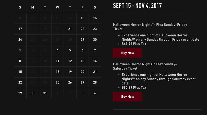 halloween horror nights 2016 tickets source universal studios orlando sets halloween horror nights dates for - Hours Halloween Horror Nights