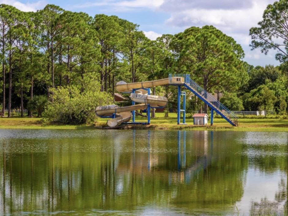 Mickey Mansion Backyard Slide