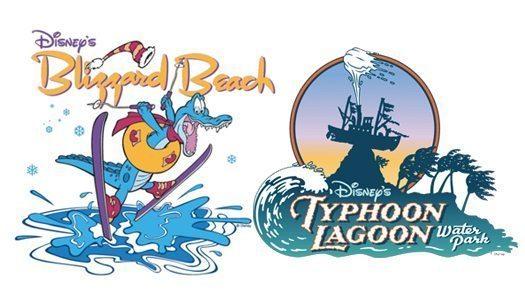 Disneys Blizzard Beach Typhoon Lagoon Logos image