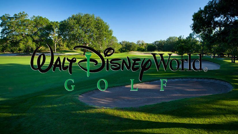 Disneys Golf Course with written logo