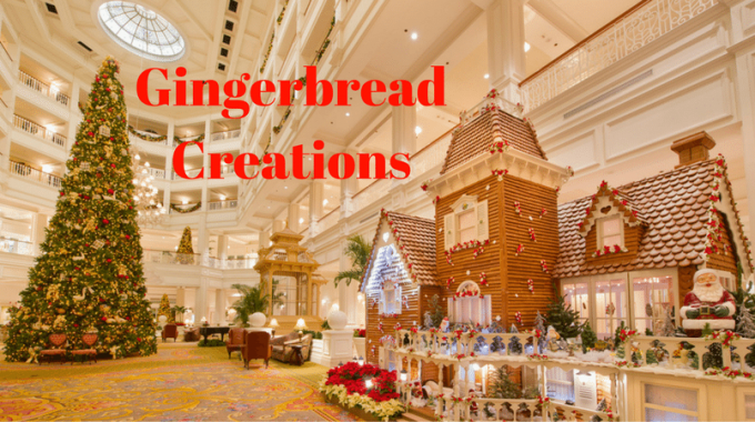 Spectacular Gingerbread Holiday Creations At Walt Disney World Resort
