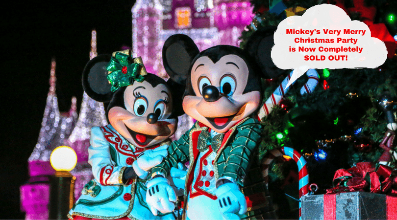 Mickey's Very Merry Christmas Party Is Now Completely Sold Out For 2016