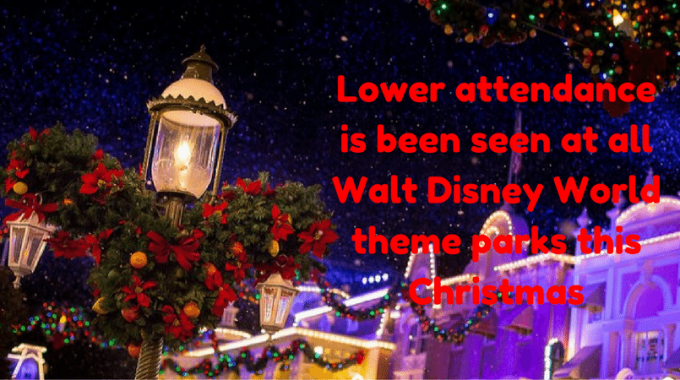 Lower Attendance Is Been Seen At All Walt Disney World Theme Parks This Christmas