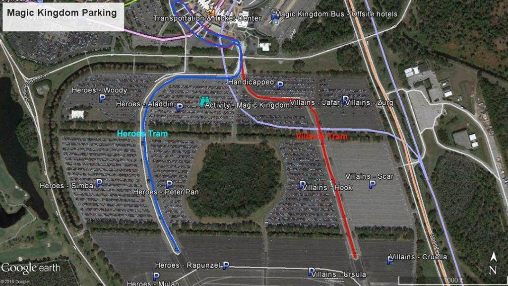 Magic kingdom preferred parking map