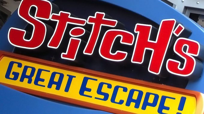 Stitch's Great Escape! Return To Operation This Weekend