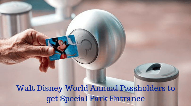 Walt Disney World Annual Passholders To Get Special Park Entrance