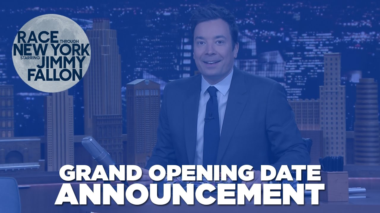 """Race Through New York Starring Jimmy Fallon,"" Will Officially Open On April 6"