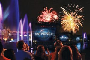 Universal's Cinematic Spectacular - 100 years of Movie Magic Universal Studios Florida USF  Lagoon Advertising Rehearsals night time